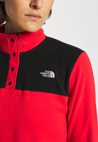 The North Face - GLACIER SNAP NECK - Fleece jumper - horizon red/black - 4