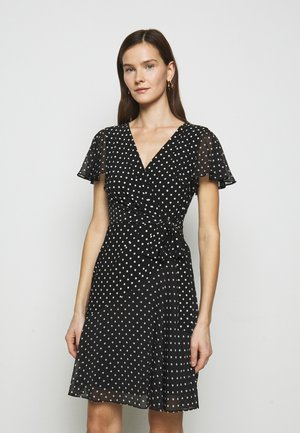 PRINTED DRESS - Jersey dress - black