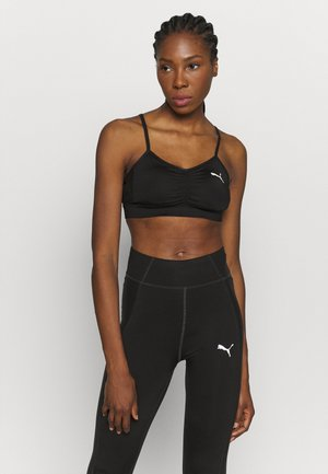 PAMELA REIF X PUMA CALLECTION RUCHING SPORT BRA - Light support sports bra - black