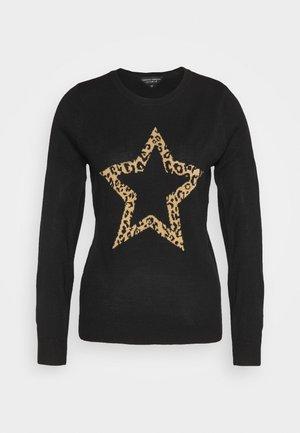 ANIMAL STAR CREW NECK JUMPER - Strikkegenser - black