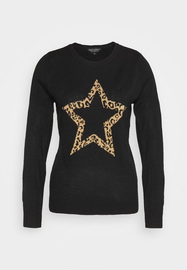 ANIMAL STAR CREW NECK JUMPER - Maglione - black