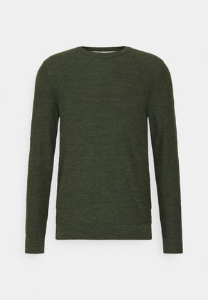 SLHBUDDY CREW NECK - Stickad tröja - rosin/uneven budding yarn
