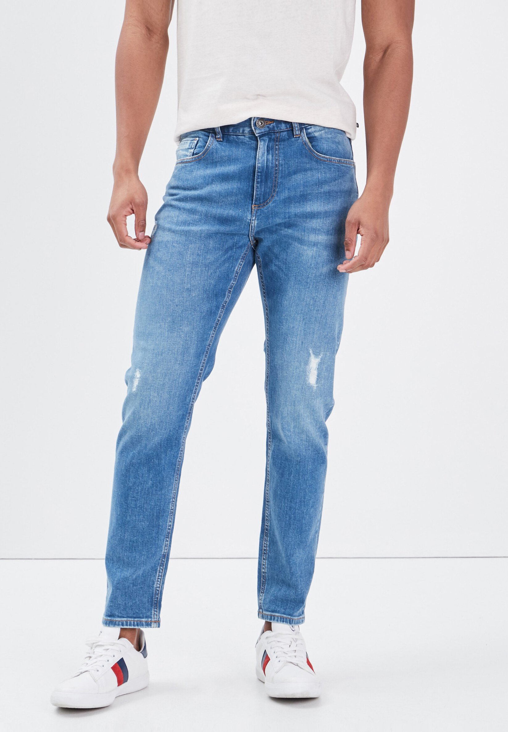 Uomo UMWELTFREUNDLICHE - Jeans a sigaretta