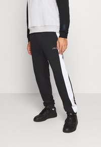 Fila - LARS  - Tracksuit bottoms - black/bright white - 0