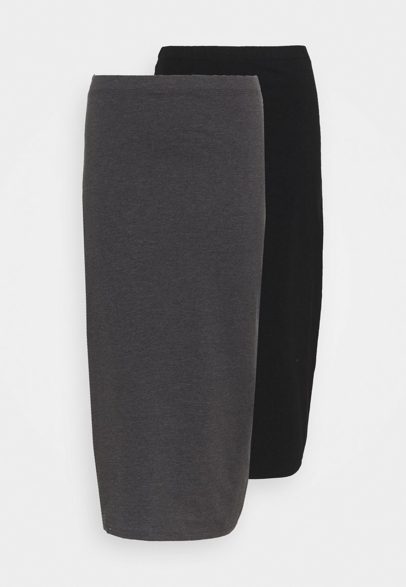 Even&Odd Tall - 2 PACK - Pencil skirt - black/grey