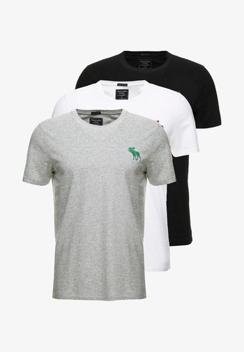 TRIPPLE EXPLOIDED ICON  3 PACK - T-shirt med print - black/white/grey