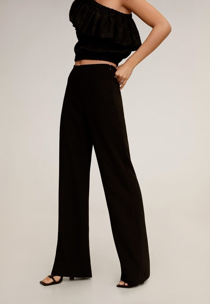 Mango - PALACHIN - Trousers - schwarz