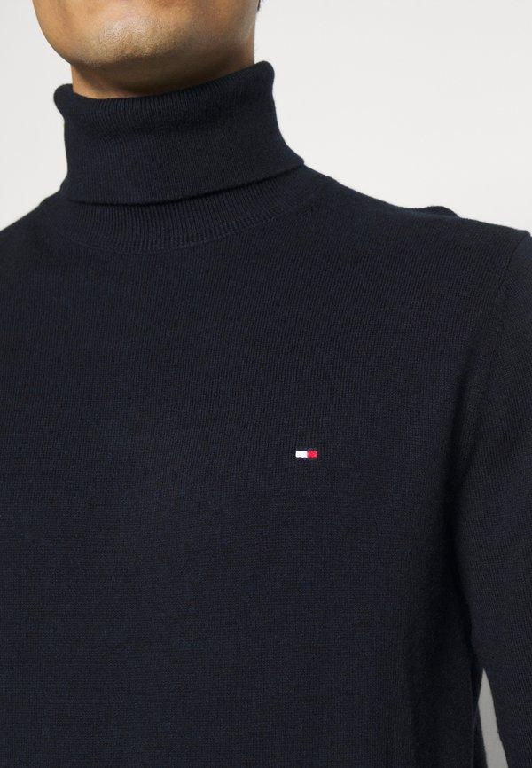 Tommy Hilfiger PIMA ROLL NECK - Sweter - desert sky heather/granatowy Odzież Męska NVOH