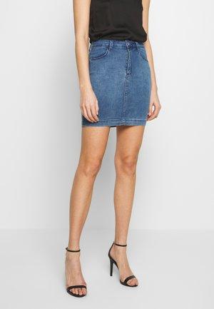 SUPER STRETCH SKIRT - Denim skirt - stonewash