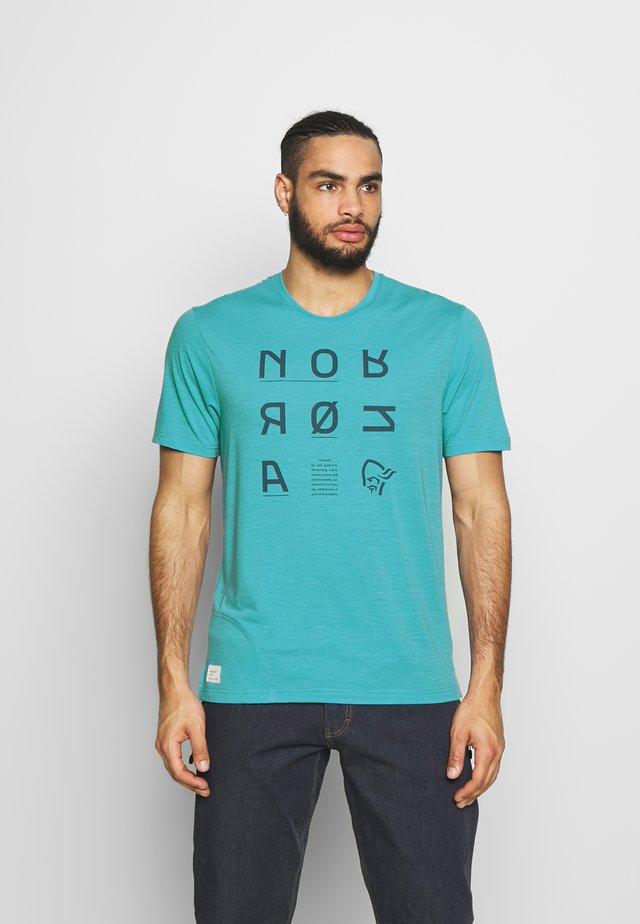 SVALBARD  - T-shirt con stampa - heritage blue