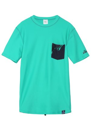 BASE SKINS - Rash vest - salina green