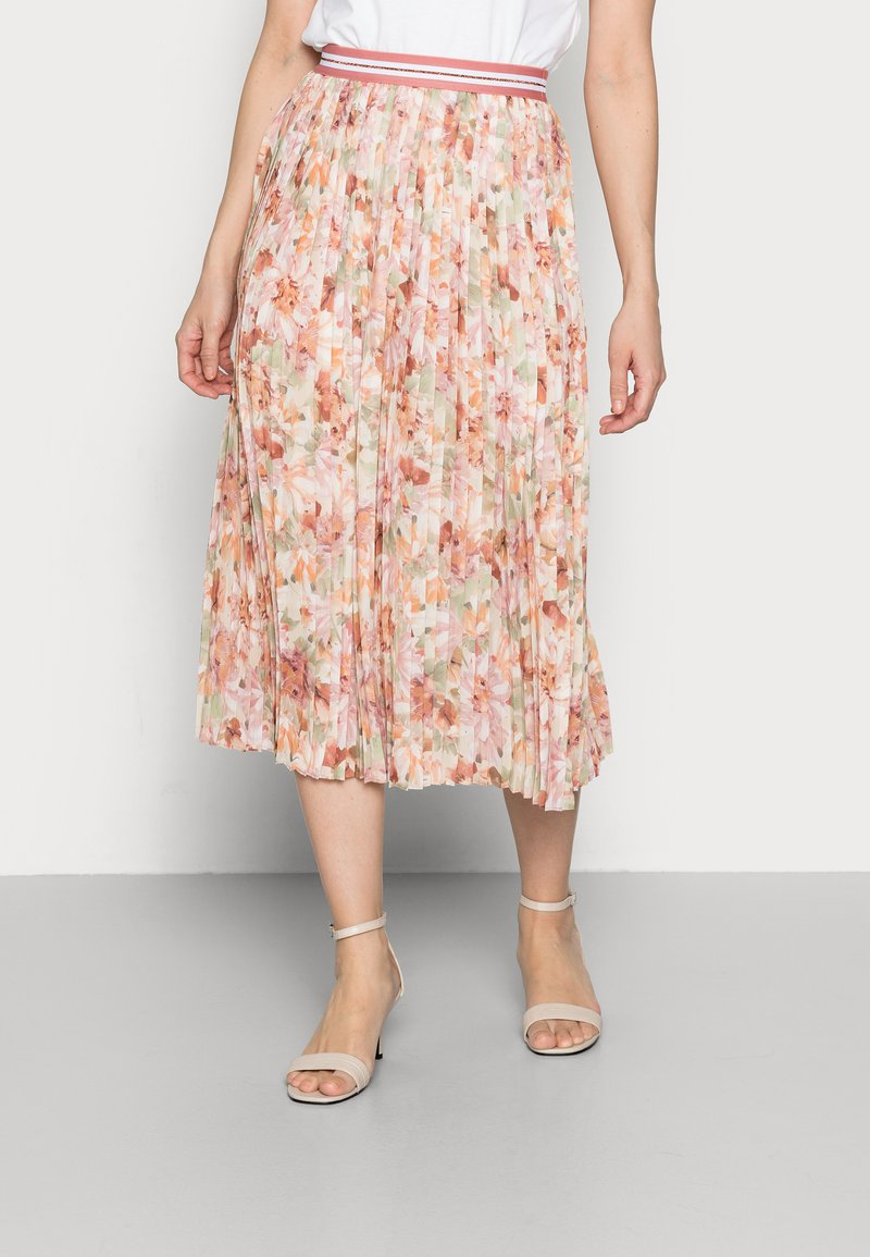 Rich & Royal - PLISSEE SKIRT - Pleated skirt - white stone