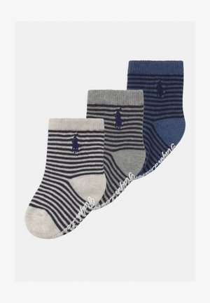 3 PACK UNISEX - Socks - navy/grey/black solid