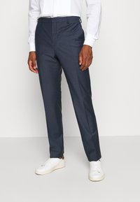 Calvin Klein Tailored - STRETCH SMALL GRID SUIT - Trousers - blue - 4
