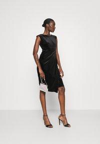 Closet - WRAP OVER DRESS - Shift dress - black - 1