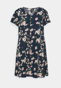 Vero Moda Curve - VMSIMPLY EASY DRESS - Kjole - navy blazer/imma - 0