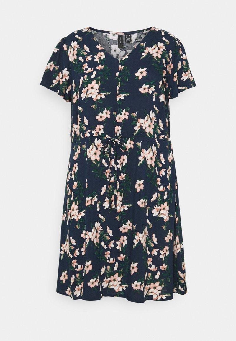 Vero Moda Curve - VMSIMPLY EASY DRESS - Kjole - navy blazer/imma