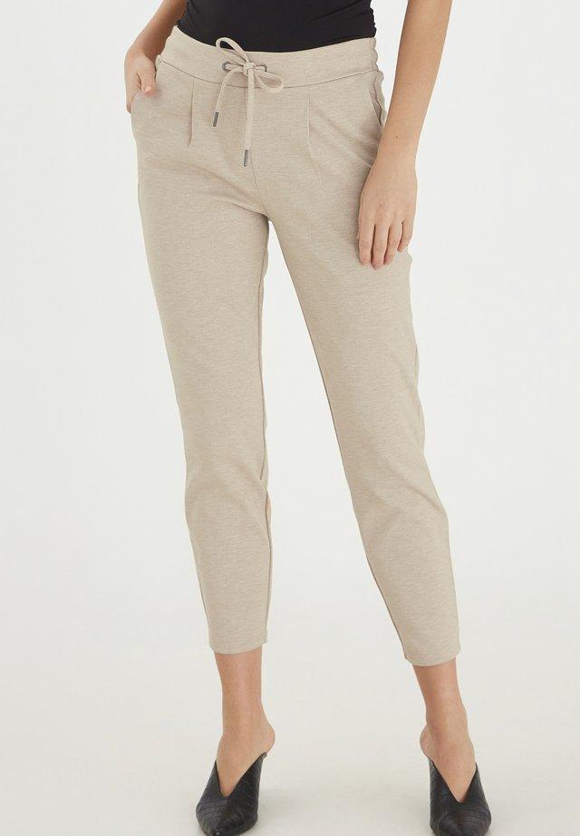 Trousers - sesam melange