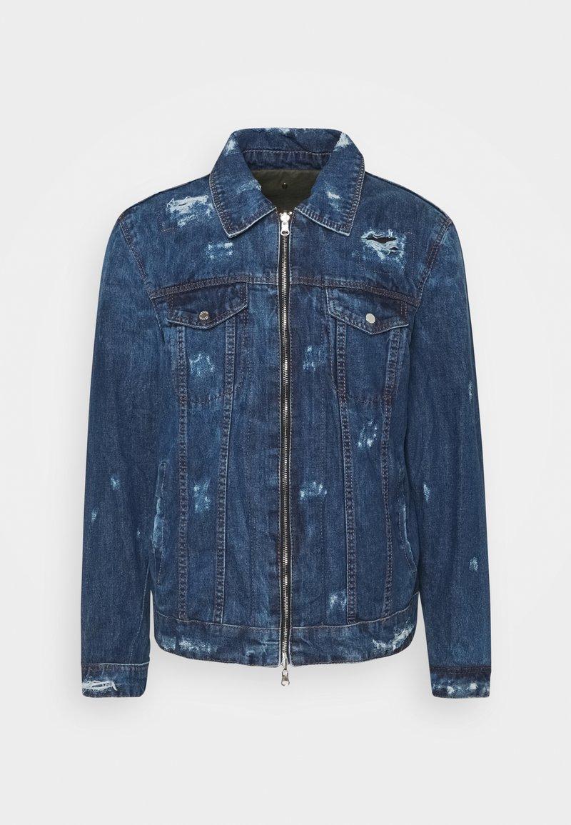 Be Edgy - NATE D - Kurtka jeansowa - indigo/khaki
