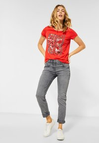 Cecil - KREMPEL-DETAIL - Slim fit jeans - grau - 1