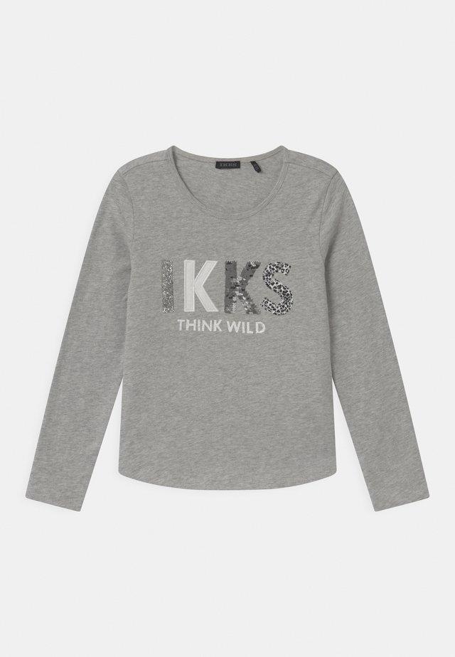 LOGO  - T-shirt à manches longues - gris chiné moyen