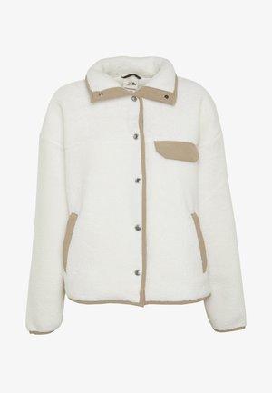 WOMENS CRAGMONT JACKET - Fleecová bunda - vintage white/kelp tan