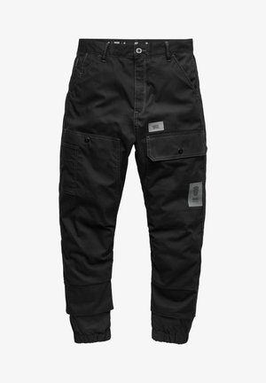 BOYFRIEND TAPERED CARGO - Pantalon cargo - dk black