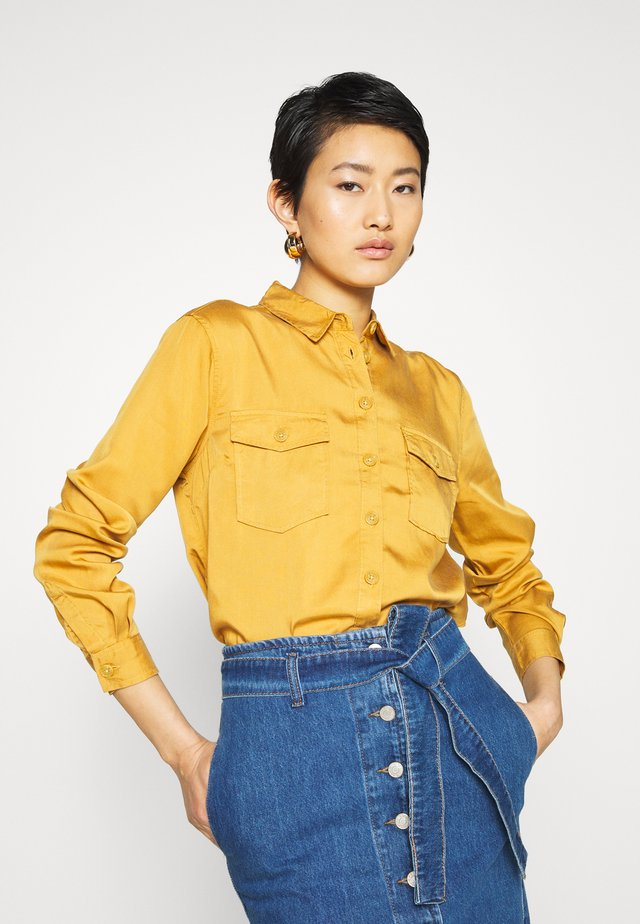 TAYLOR PATCH - Button-down blouse - mid yellow