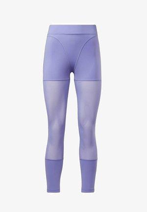 CARDI MESH COLLAB CASUAL LEGGINGS - Leggings - Trousers - purple
