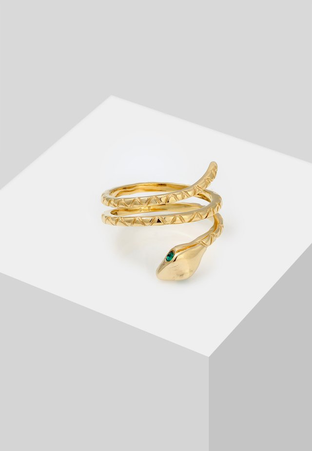 SNAKE DESIGN - Bague - gold-coloured