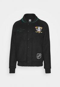 NHL ANAHEIM DUCKS TRUE CLASSICS LETTERMAN JACKET - Club wear - black