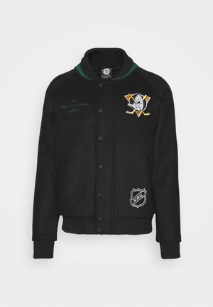 NHL ANAHEIM DUCKS TRUE CLASSICS LETTERMAN JACKET - Equipación de clubes - black
