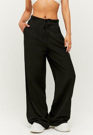 HIGH WAIST  - Trousers - black