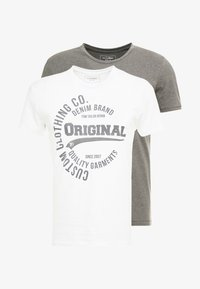 2 PACK - T-shirt print - white