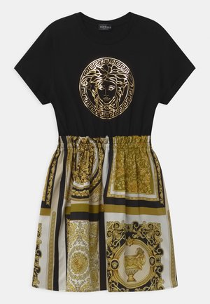 UNITED PATCHWORK HERITAGE PRINT - Vestito di maglina - black/gold/white