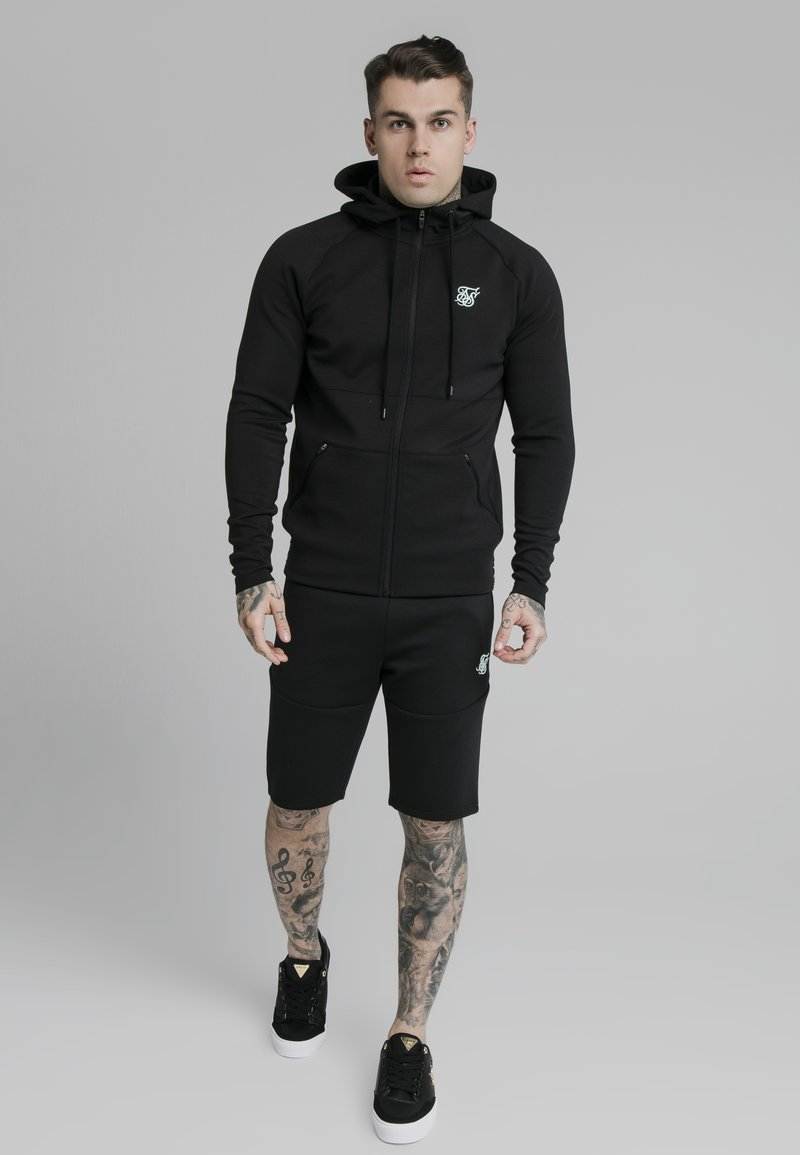 SIKSILK - EXHIBIT ZIP THROUGH HOODIE - Cardigan - black