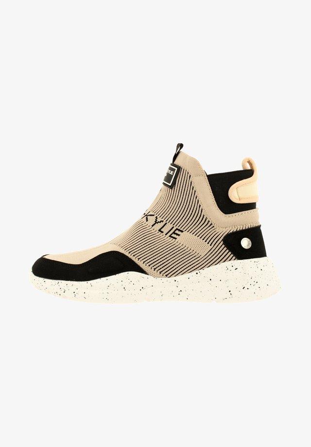 Sneakers hoog - black-nude