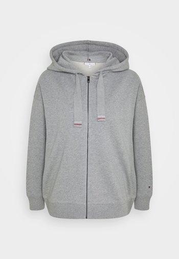 OVERSIZED FLAG HOODIE - Zip-up hoodie - light grey heather