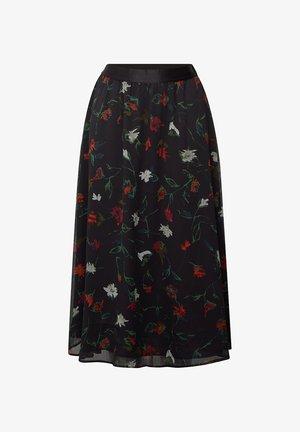 RECYCELT AUS  - A-line skirt - black