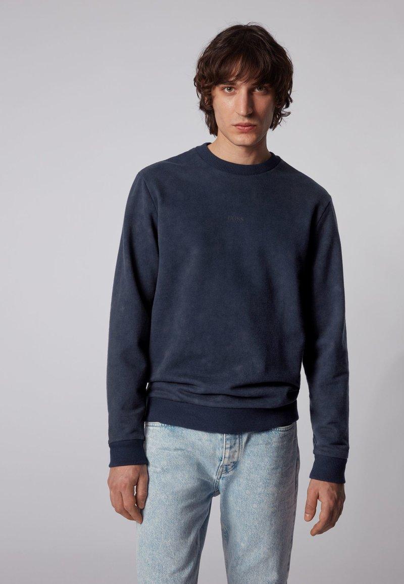 BOSS - WASH - Sweatshirt - dark blue
