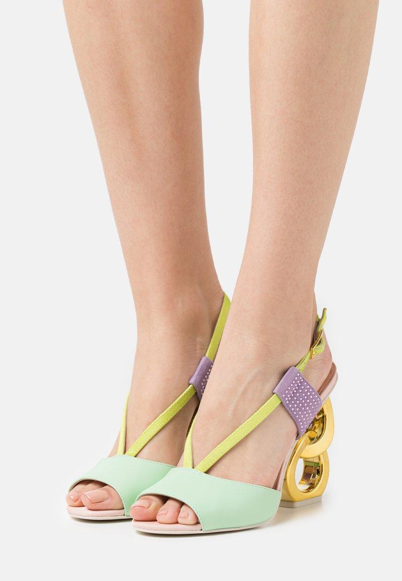 Kat Maconie - HALLE - Sandaler med høye hæler - spearmint/crystal pink