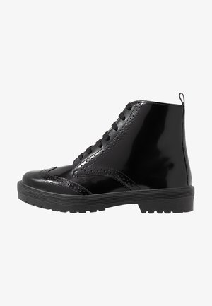 BROGUE BROGUE LACE UP - Korte laarzen - black