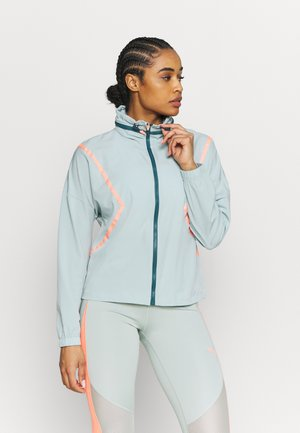 ONPFERR TRAIN - Trainingsjacke - gray mist/neon orange