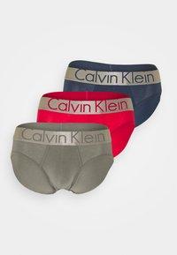Calvin Klein Underwear - STEEL HIP BRIEF 3 PACK - Underbukse - blue - 5