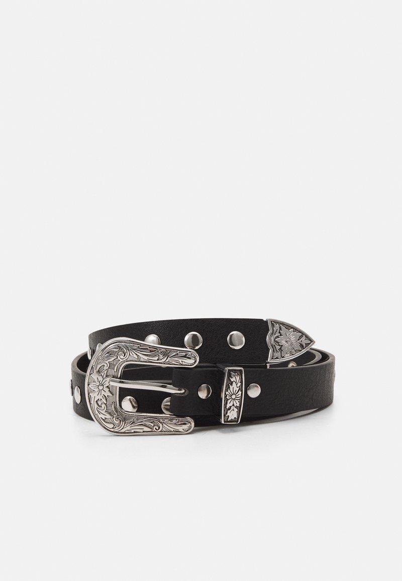 Pieces - PCLIRAH WAIST BELT - Waist belt - black/silver-coloured
