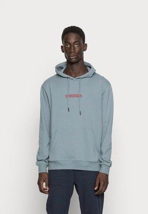 WHITE DRAGON EMBRODIERY HOOD - Sweater - slate grey