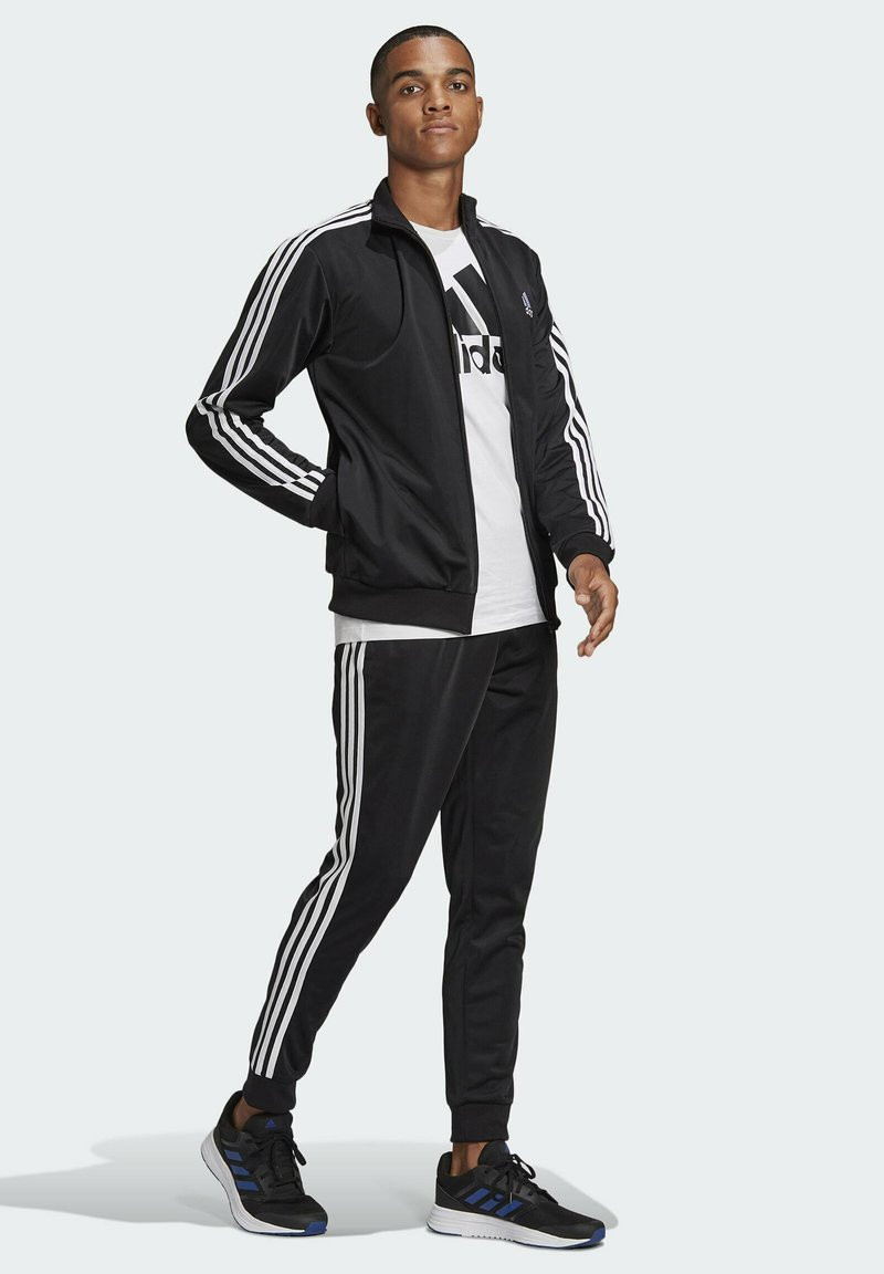 adidas Performance - Trainingsanzug - top:black/white bottom:black/white