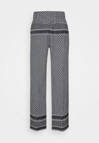 CECILIE copenhagen - BASIC TROUSERS - Trousers - black/white - 4