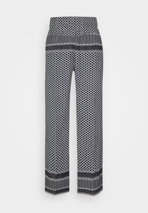 BASIC TROUSERS - Trousers - black/white