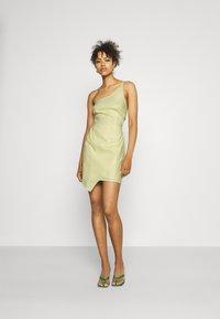 NA-KD - MINI DRESS - Cocktail dress / Party dress - dusty yellow - 1